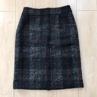 マルティニークルコント(martinique Le Conte)のmartinique アルパカブレンドウールタイトスカート サイズ2(ひざ丈スカート)