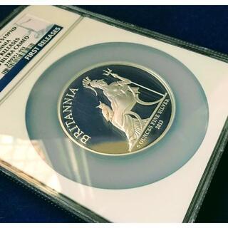 【最高鑑定】大型銀貨 2013 イギリス ブリタニア 10ポンド5オンス(貨幣)