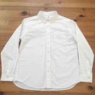 ユニクロ(UNIQLO)のUNIQLO 白シャツ  150㎝(ブラウス)