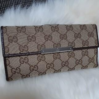 グッチ(Gucci)の超美品 GUCCI グッチ 長財布 ダークブラウン 春財布(財布)