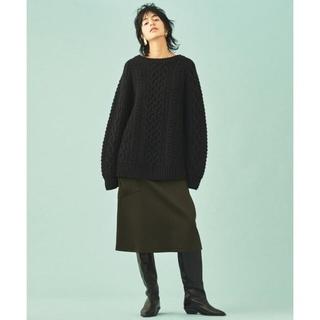 トゥモローランド(TOMORROWLAND)の2019AW GALERIE VIE ウールドスキン 1ポケットAラインスカート(ひざ丈スカート)