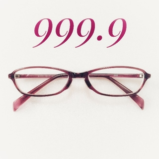 フォーナインズ(999.9)の999.9 フォーナインズ メガネ 眼鏡 パープル E-432(サングラス/メガネ)