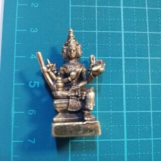 神様ミニメタル仏像 ブラフマー 梵天 ゴールドカラー(彫刻/オブジェ)