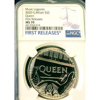 2020 イギリス《 クイーン》 ミュージックレジェンズ銀貨 最高鑑定MS70(貨幣)