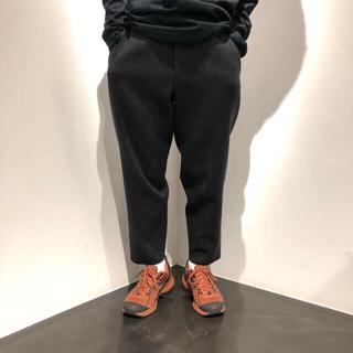 SUNSEA - SUNSEA Cut Off Melton Pants AshBlack