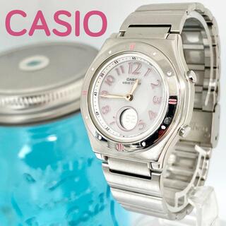 CASIO - 157 カシオ時計 レディース腕時計 タフソーラー 電波ソーラー時計 ピンク