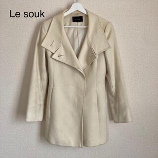 ルスーク(Le souk)の【Le souk ルスーク】コート 白/ホワイト(ロングコート)
