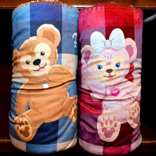 ディズニー(Disney)のダッフィー シェリーメイ ブランケット レア 希少 ディズニー 2014 総柄(おくるみ/ブランケット)