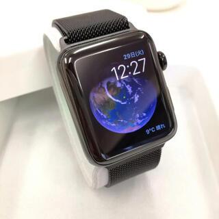 アップルウォッチ(Apple Watch)のアップルウォッチ 2 ブラックステンレス 42mm Apple Watch(腕時計(デジタル))