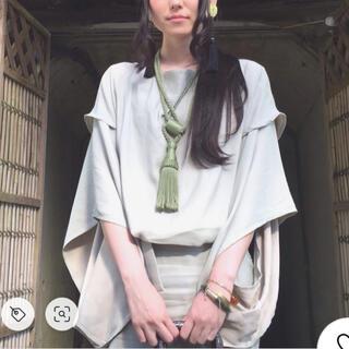 ケイスケカンダ(keisuke kanda)の★オトナシウム きもの袖ワンピース ペールグリーン(ひざ丈ワンピース)