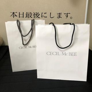 セシルマクビー(CECIL McBEE)のセシルマークビー  ショップ袋  紙袋(ショップ袋)