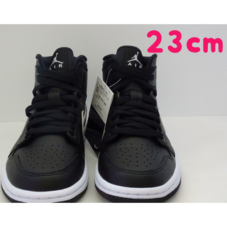 "ナイキ(NIKE)のNIKE WMNS AIR JORDAN 1 MID ""BLACK/WHITE""(スニーカー)"