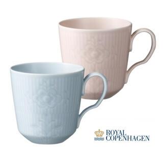 ロイヤルコペンハーゲン(ROYAL COPENHAGEN)の新品未使用 ロイヤルコペンハーゲン フラワーエンブレム ペアマグカップ(グラス/カップ)