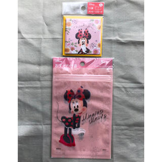 ディズニー(Disney)のミニー おすそわけ袋 ジッパーバッグ メッセージカード 2点セット ピンク(カード/レター/ラッピング)