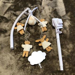 トラセリア(trousselier)のトラセリア/ベッドメリー・ベア&バニー オフホワイト [電池式] オルゴール(オルゴールメリー/モービル)