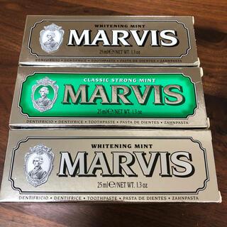 マービス(MARVIS)のMarvis 歯磨き粉 25ml 3本セット(歯磨き粉)