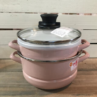 フジホーロー(富士ホーロー)の☆富士ホーロー ホーロー多様鍋セット ピンク(鍋/フライパン)