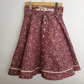 フィント(F i.n.t)の【1990】フィント◇ベルトデザインが可愛い 花柄スカート(ひざ丈スカート)