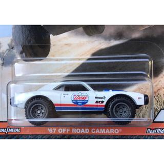 シボレー(Chevrolet)のホットウィール  '67 OFF ROAD CAMARO 白 オフロード カマロ(ミニカー)