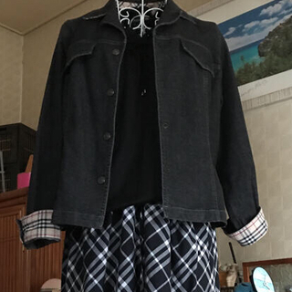 バーバリー(BURBERRY)のBURBERRY  デニムジャケット、インナー 2点セット 大きいサイズ(セット/コーデ)