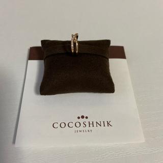 ココシュニック(COCOSHNIK)のココシュニック ダイヤモンド クロスフープ イヤーカフ(片耳用)(イヤーカフ)