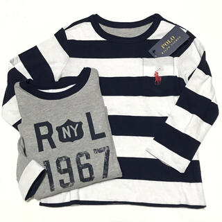 ポロラルフローレン(POLO RALPH LAUREN)のSALE☆ 4T/110 新品 WN リバーシブル ロングスリーブ Tシャツ(Tシャツ/カットソー)