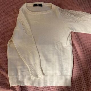 ピッチン(PICCIN)のPICCIN ピッチン  ニット 7分袖  白(ニット/セーター)