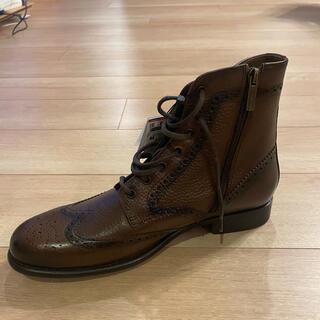 ザラ(ZARA)の新品未使用タグ付き ZARA man 28.5センチ レザーブーツ ブラウン(ブーツ)