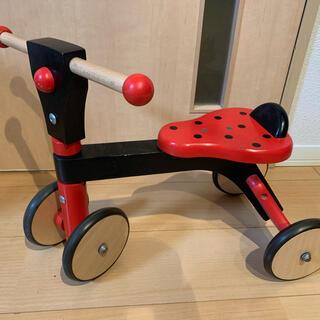 ボーネルンド(BorneLund)のボーネルンド 木製バイク てんとう虫(三輪車)