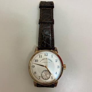 ランゲアンドゾーネ(A. Lange & Söhne(A. Lange & Sohne))のランゲゾーネ サクソニア アリゲーターベルト 中古品(腕時計(アナログ))