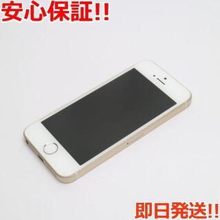 アイフォーン(iPhone)の良品中古 SIMフリー iPhoneSE 16GB ゴールド (スマートフォン本体)