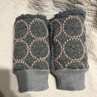 ミナペルホネン(mina perhonen)のミナペルホネン ハンドウォーマー タンバリン グレー×グレー(手袋)