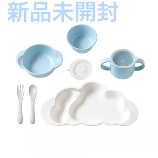 フィセル(FICELLE)のベビー食器 10mois ディモワ グランデセット ブルー(離乳食器セット)
