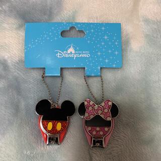 ディズニー(Disney)の【新品未使用】香港ディズニーランド 限定 爪切り ミッキー ミニー(ネイル用品)
