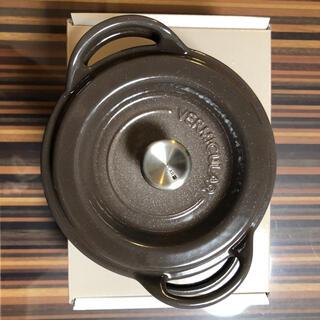 バーミキュラ(Vermicular)の新品未使用Vermicular Oven Pot Round #14 brown(鍋/フライパン)