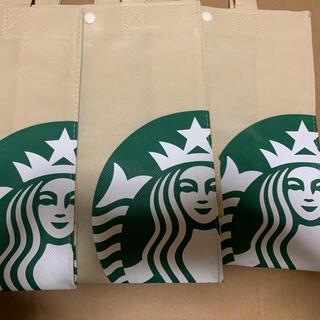 スターバックスコーヒー(Starbucks Coffee)のスターバックス  不織布エコバック3枚セット(エコバッグ)