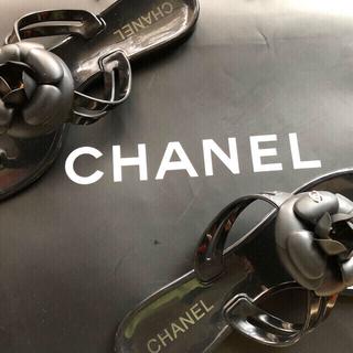CHANEL - シャネル ピーチサンダル 38(24センチ)