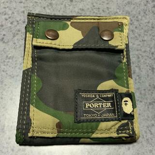 アベイシングエイプ(A BATHING APE)のAPE  POTRERコラボ財布(折り財布)