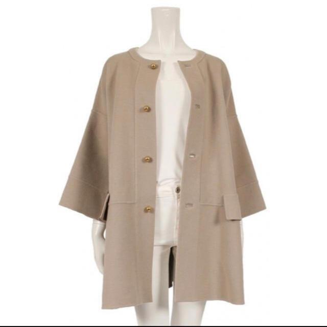 Drawer(ドゥロワー)の【週末限定値下げ】Drawer テントラインコート36 レディースのジャケット/アウター(ノーカラージャケット)の商品写真