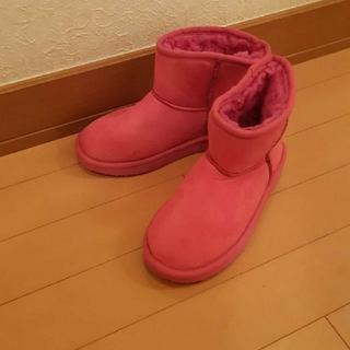 ピンクムートンブーツ 22~22.5センチ(ブーツ)