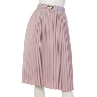 フィント(F i.n.t)のハートゴムベルト付きプリーツスカート Fint(ひざ丈スカート)