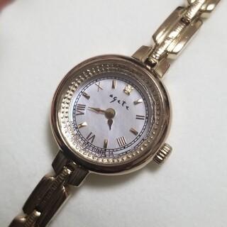 アガット(agete)のagete ソーラー レディース 腕時計(腕時計)