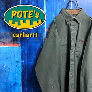 カーハート(carhartt)の【コロンビア】レザーロゴ入りダブルポケットワークシャツ(シャツ)