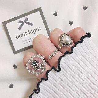 アンクルージュ(Ank Rouge)のハート型薔薇リング 指輪 ハンドメイド(リング)