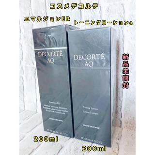 コスメデコルテ(COSME DECORTE)のコスメデコルテ AQエマルジョン ERとトーニングローションセット(化粧水/ローション)