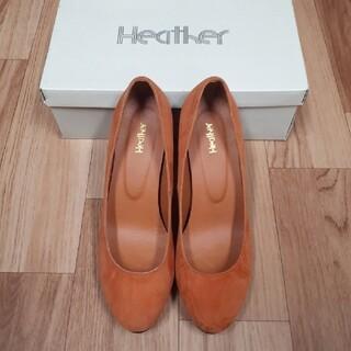 ヘザー(heather)のスエードパンプス(オレンジ)(ハイヒール/パンプス)
