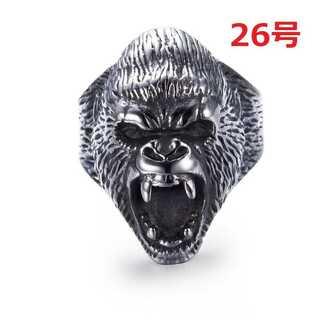 迫力抜群 海外限定 ゴリラ エイプ リング 指輪 26号(リング(指輪))