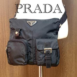 プラダ(PRADA)の【美品】PRADA ウエストバッグボディバッグネロ(ボディバッグ/ウエストポーチ)
