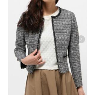 ANAYI - 【美品】アナイ ANAYI ノーカラーツイードジャケット サイズ36 日本製