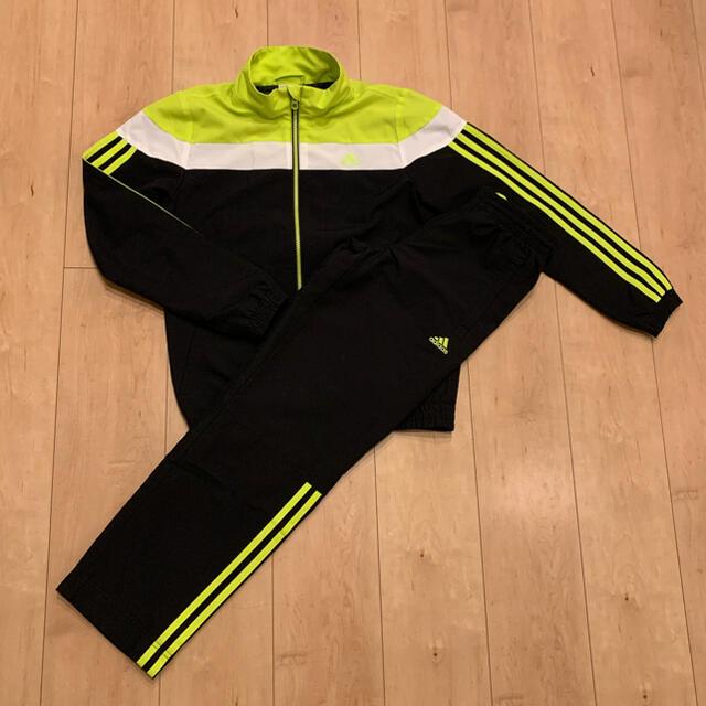 adidas(アディダス)のアディダス ジャージ 上下 黄色 黒 セットアップ キッズ/ベビー/マタニティのキッズ服男の子用(90cm~)(その他)の商品写真